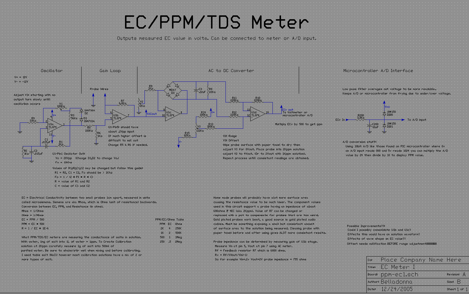 Ec Tds Ppm Meter Kawasaki Klr650 Engine Diagram Click Here For The Full More Readable Schematic And Notes